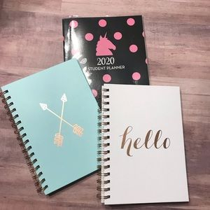 Office students bundle spiral notebook planner NWT
